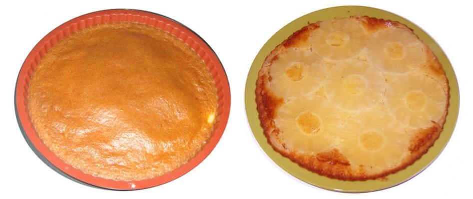 gateau ananas renversé sans gluten